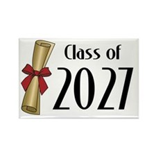 Class of 2027 Diploma Rectangle Magnet