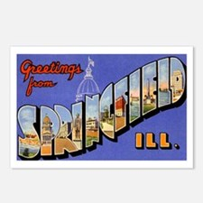 Springfield Illinois Greetings Postcards (Package