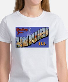 Springfield Illinois Greetings (Front) Women's T-S