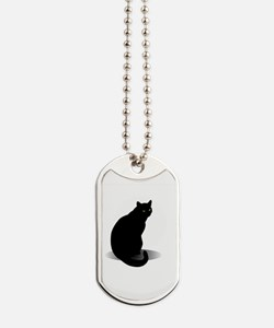 Basic Black Cat Dog Tags