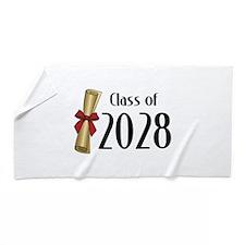 Class of 2028 Diploma Beach Towel