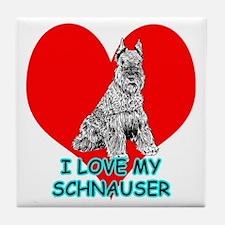 I Love My Schnauser Tile Coaster