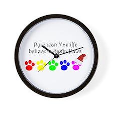 Pyrenean Mastiffs Believe Wall Clock