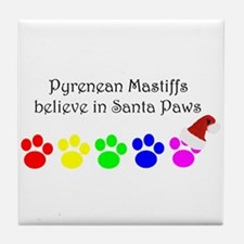 Pyrenean Mastiffs Believe Tile Coaster