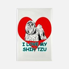 I Love My Shih Tzu Rectangle Magnet