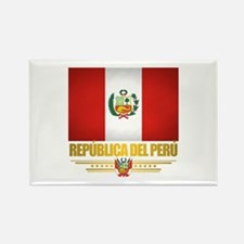 Flag of Peru Rectangle Magnet