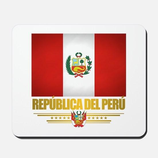 Flag of Peru Mousepad