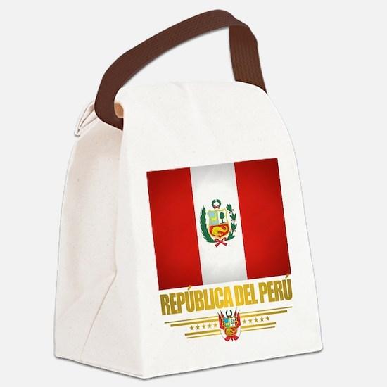 Flag of Peru Canvas Lunch Bag