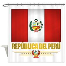 Flag of Peru Shower Curtain