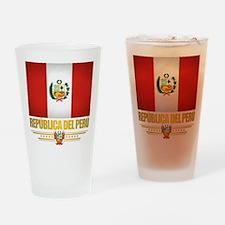 Flag of Peru Drinking Glass