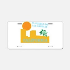 Los Angeles Mexico Aluminum License Plate