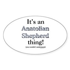 Anatolian Thing Oval Decal