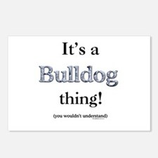 Bulldog Thing Postcards (Package of 8)