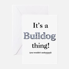 Bulldog Thing Greeting Cards (Pk of 10)