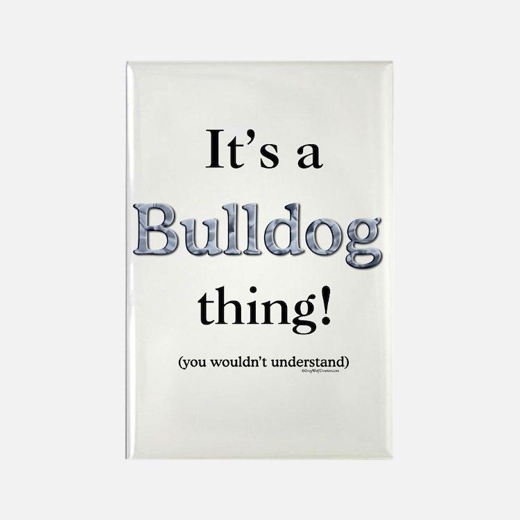 Bulldog Thing Rectangle Magnet
