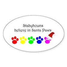 Stabyhouns Believe Oval Decal