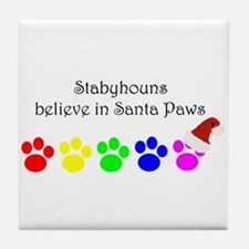 Stabyhouns Believe Tile Coaster