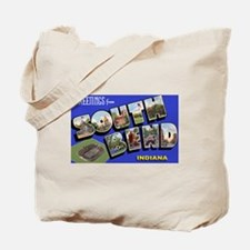 South Bend Indiana Greetings Tote Bag