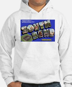 South Bend Indiana Greetings (Front) Hoodie