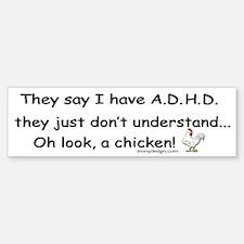 ADHD Chicken Sticker (Bumper)