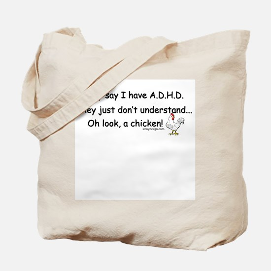 ADHD Chicken Tote Bag