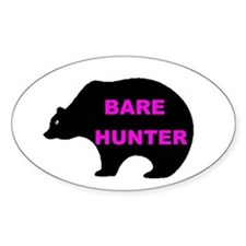 BARE HUNTER Oval Decal