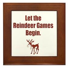 Let the Reindeer Games Begin Framed Tile