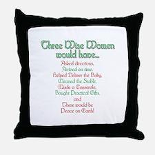 Three Wise Women Throw Pillow