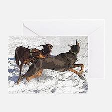 Labrador and Dobermans Greeting Cards (Pk of 10)