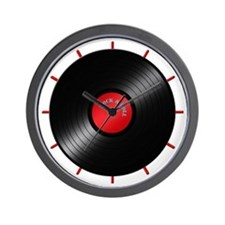 Rock and Roll Record Clock Wall Clock