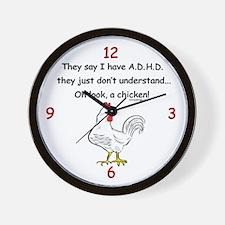 ADHD Chicken Wall Clock