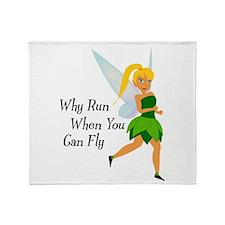 Fairy Run Throw Blanket