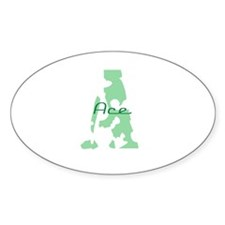 Abe Oval Decal