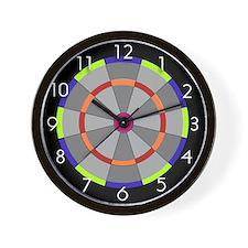 Dart Board Style Wall Clock