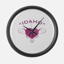 Idaho State (Heart) Gifts Large Wall Clock