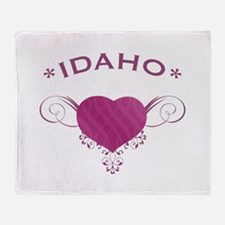 Idaho State (Heart) Gifts Throw Blanket