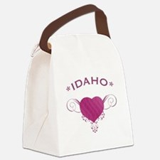 Idaho State (Heart) Gifts Canvas Lunch Bag
