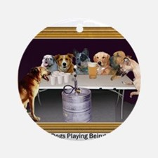 Dogs Playing Beirut Ornament (Round)