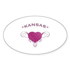 Kansas State (Heart) Gifts Decal