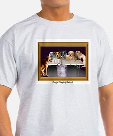 Dogs Playing Beirut Ash Grey T-Shirt