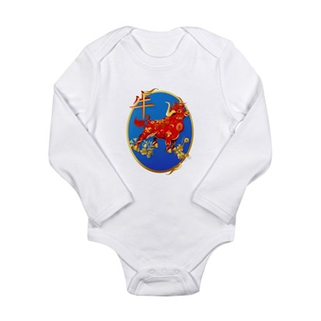 Year Of The Ox Oval Long Sleeve Infant Bodysuit