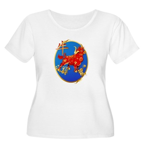 Year Of The Ox Oval Women's Plus Size Scoop Neck T