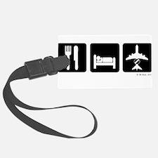 Eat, Sleep, AWACS dark Luggage Tag