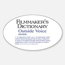 Outside Voice Oval Decal