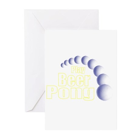 Play Beer Pong Greeting Cards (Pk of 10)