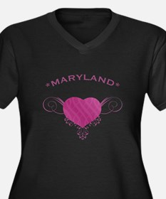 Maryland State (Heart) Gifts Women's Plus Size V-N
