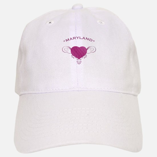 Maryland State (Heart) Gifts Baseball Baseball Cap