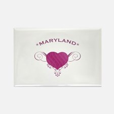 Maryland State (Heart) Gifts Rectangle Magnet
