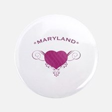 """Maryland State (Heart) Gifts 3.5"""" Button (100 pack"""