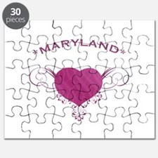 Maryland State (Heart) Gifts Puzzle